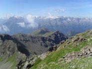 panorama con vista del colletto e della cresta di salita