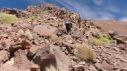 salendo nella prima parte della cresta NO del Thunupa (12-8-2010)