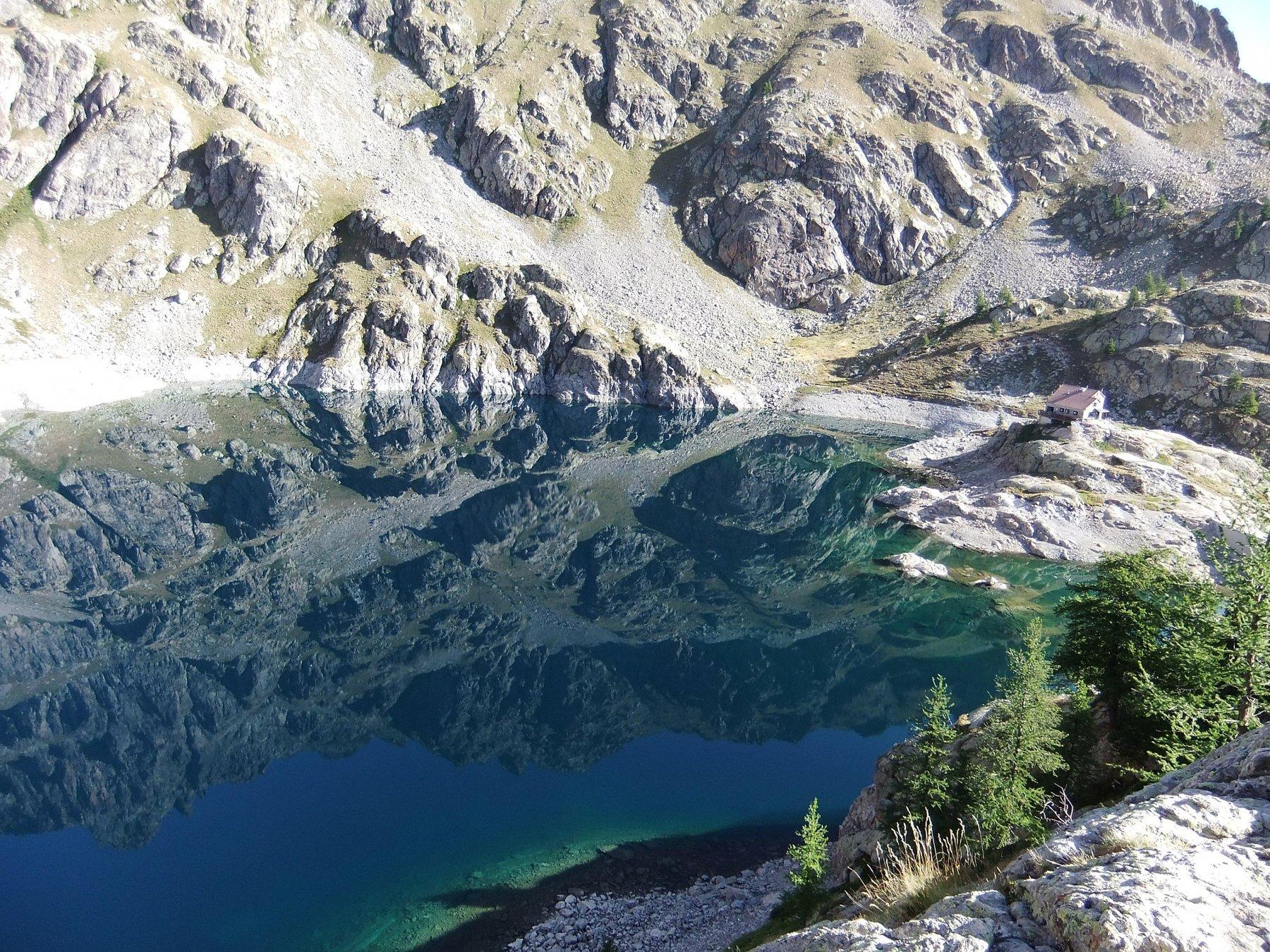 Lac Vert e rifugio Valmasque