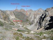 Punta La Croce,colletto Vittorio e resti di bunker (2) visti dal colle Oserot