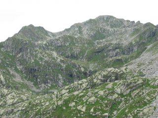 Terzo lago di Canaussa e Monte del Prà