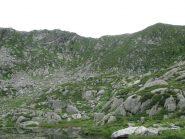 Dal 1° lago: Cima Carpior e q.ta 2236 e versante di salita