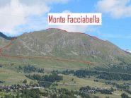 Tutta la cresta del Monte Facciabella