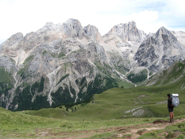 panorama verso Marmolada e Gran Vernel