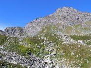 Monte Manzol e il canale alla sinistra