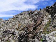 ultime roccette prima della cima