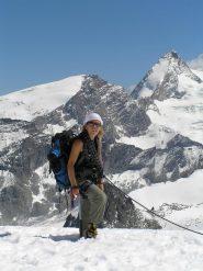Sul ghiacciaio. Sullo sfondo Tete de Valpelline e Dent d'Herens