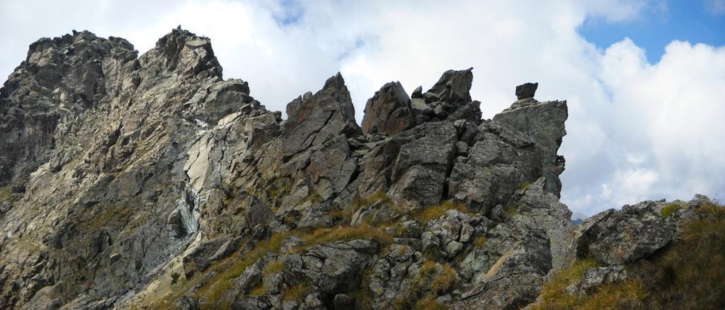 La cresta vista dall'attacco