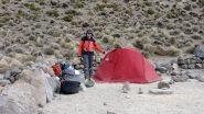 io al Campo Base con la bostra tenda appena montata (19-8-2010)