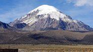 una bella visuale sul Nevado Sajama da Tambo Quemado (18-8-2010)