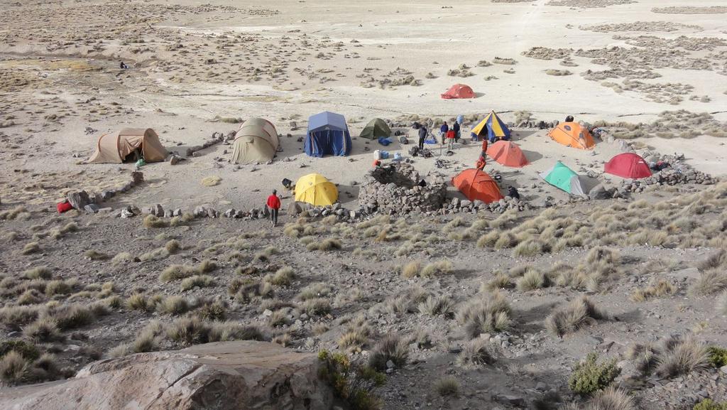 il Campo Base del Sajama visto dall'alto (19-8-2010)