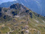 La via di salita al Morion (vista dal Bec Fontaney)
