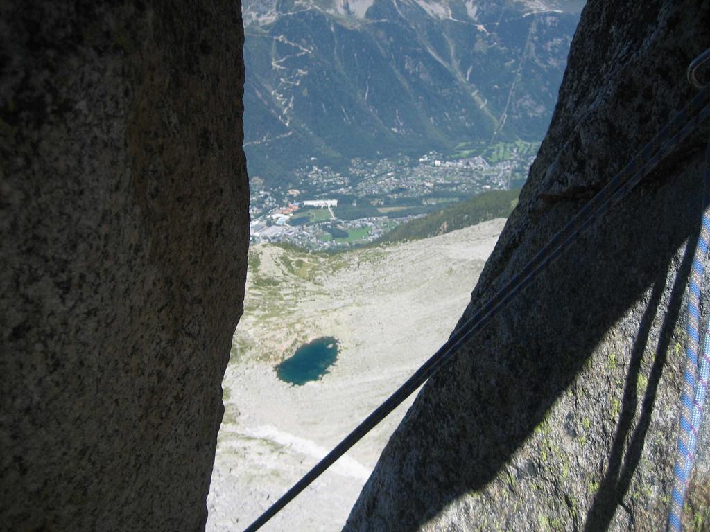 Veduta su Chamonix dalla sosta  nella