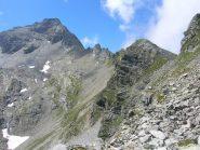 Il percorso che dal bivacco porta alla cima
