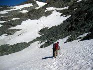 Nevai a quota 3000 salendo al Collerin
