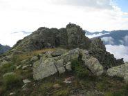 La parte finale della cresta nord di salita