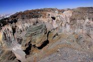 il grande cratere osservato dalla cima (24-8-2010)