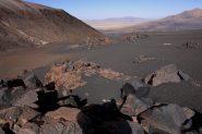 pietroni, distese di sabbia e deserti...dal Campo Alto del Parinacota (24-8-2010)