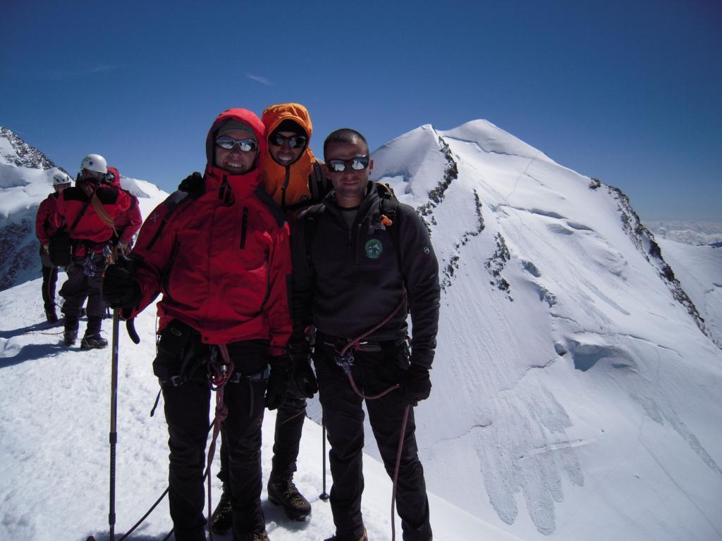 Matteo, io e Laurent con il Castore dietro di noi