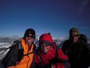 Io, Matteo e Laurent in vetta