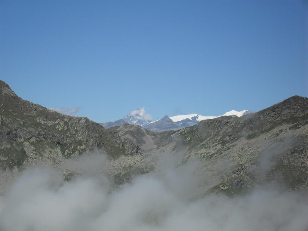 Panorama dalultima sosta,sullo sfondo il Cervino..