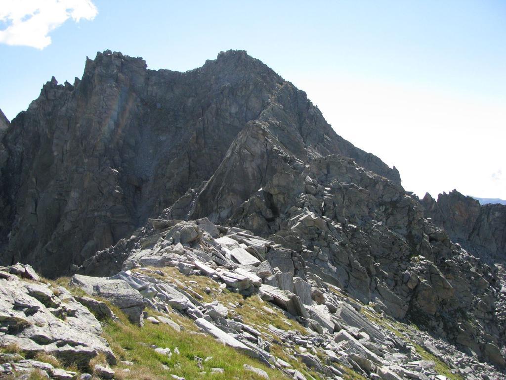 Vista della cresta N-O di Punta Boiretto