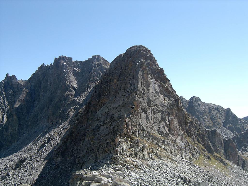 La cresta N-O di Punta Lazin