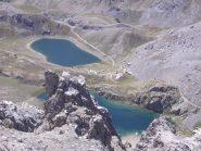I laghi di Roburent visti dalla vetta