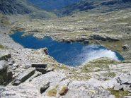 il gran lago visto dalla cima
