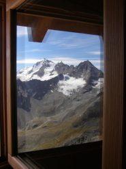 panorama dalla finestra del bivacco