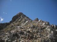 la cresta per la cima
