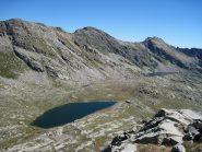 I laghi Fertà e Unghiasse dalla vetta