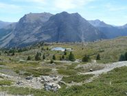Lac de Sarailles e cima Lasseron sullo sfondo