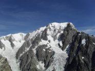 vista sul Bianco dalla vetta del Petit mont Blanc