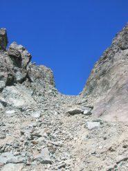 Il Passo del Collerin dal versante italiano