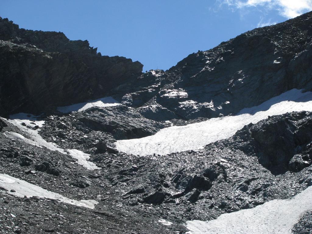 Il versante valdostano di risalita al Colle dell'Arietta