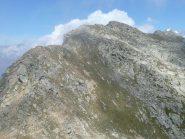 Cresta verso la cima da Punta Fertà