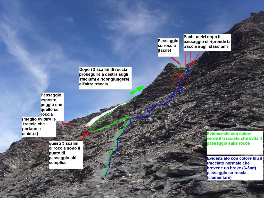 04 - l'unico passaggio su roccia, pur essendo molto semplice, ecco come aggirarlo