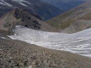 15 - scivolo del ghiacciaio della Sassiere verso valle