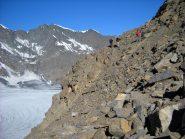 Salendo al Col Bassac Déré a lato della Glairetta