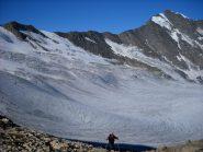 Dal Col Bassac Déré, vista verso ovest sulla Glairetta e la magnifica cresta della Grande Sassiere