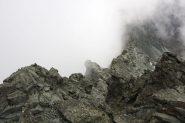 la cresta vista dalla vetta
