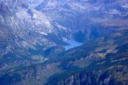 Dalla cima del Cistella il lago di Devero