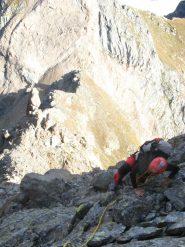 prima parte di cresta, di rocce rotte