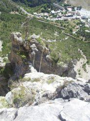 05 - la passerella dall'alto, e Briancon in verticale