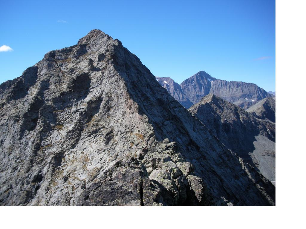 Il Mont Servin dalla Punta Barale con al fodo sulla dx la Punta d'Arnas