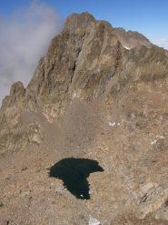 Dalla cima: verso la cima di Nasta e l'Argentera
