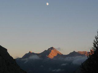Punta Charra all'ultimo sole