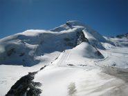 Allalinhorn,a sx la cresta percorsa