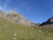 il colle d'Orgere ed a sinistra il Berrio Blanc visti dal vallone